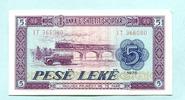 5 Leke 1976 Albanien/Albania,  Unc  2,00 EUR  +  7,00 EUR shipping