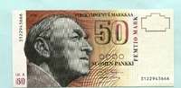 50 Markkaa 1986(1991) Finnland,  I  42,00 EUR  +  7,00 EUR shipping