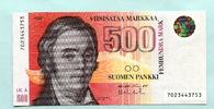 500 Markkaa 1986(1991) Finnland,  I  349,00 EUR  +  7,00 EUR shipping