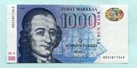 1000 Markkaa 1986(1991) Finnland,  I  420,00 EUR  +  7,00 EUR shipping
