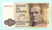 5000 Pesetas 1979(1982) Spanien,  I  110,00 EUR  +  7,00 EUR shipping