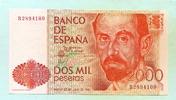 2000 Pesetas 1980(1983) Spanien,  I  50,00 EUR  +  7,00 EUR shipping