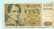 100 Francs 1956 Belgien,  IV  12,00 EUR  +  7,00 EUR shipping