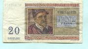 20 Francs 1956 Belgien,  III  4,00 EUR  +  7,00 EUR shipping