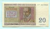 20 Francs 1956 Belgien,  II  7,00 EUR  +  7,00 EUR shipping