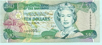 10 Dollars 1996 Bahamas,  II-III  99,50 EUR  +  7,00 EUR shipping