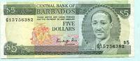 5 Dollars (1986) Barbados,  III  13,50 EUR  +  7,00 EUR shipping