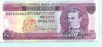 20 Dollars (1993) Barbados,  III  35,00 EUR  +  7,00 EUR shipping