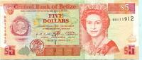 5 Dollars 1996 Belize,  III  13,00 EUR  +  7,00 EUR shipping