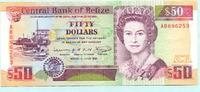 50 Dollars 1991 Belize,  II+  185,00 EUR  +  7,00 EUR shipping