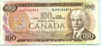 100 Dollars 1975 Kanada,  III  105,00 EUR  +  7,00 EUR shipping