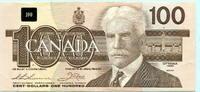 100 Dollars 1988 Kanada,  unc,  195,00 EUR  +  7,00 EUR shipping