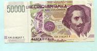 50000 Lire 1992 Italien,  unc,  80,00 EUR  +  7,00 EUR shipping