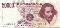 50000 Lire 1984 Italien,  II,  38,00 EUR  +  7,00 EUR shipping