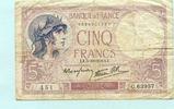 5 Francs 1939 Frankreich,  IV  9,50 EUR  +  7,00 EUR shipping