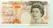 10 Pounds (1992-93) Großbritannien,  II-III,  22,00 EUR  +  7,00 EUR shipping