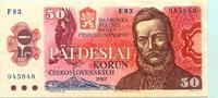 50 Korun/Kronen, 1987 Tschechoslowakei,  II  5,00 EUR  +  7,00 EUR shipping