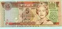 5 Dollars, (1995) Fiji,  III  8,00 EUR  +  7,00 EUR shipping