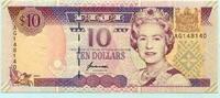 10 Dollars, (1996) Fiji,  Unc  19,50 EUR  +  7,00 EUR shipping