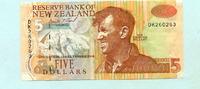 5 Dollars (1992-97) Neuseeland,  II  14,00 EUR  +  7,00 EUR shipping