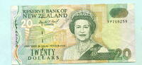 20 Dollars (1993) Neuseeland,  III  29,50 EUR  +  7,00 EUR shipping