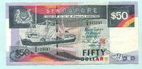 50 Dollars (1987) Singapur,  II  69,50 EUR  +  7,00 EUR shipping