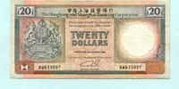 20 Dollars 1990 Hongkong,  III  7,50 EUR  +  7,00 EUR shipping