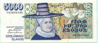 5000 Kronur 1961(1994) Island,  III  75,00 EUR  +  7,00 EUR shipping