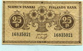 25 Pennia 1918 Finnland,  III  4,00 EUR  +  7,00 EUR shipping