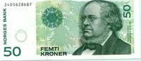 50 Kroner 1996 Norwegen,  Unc  9,50 EUR  +  7,00 EUR shipping