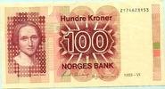 100 Kroner 1993 Norwegen,  II  22,00 EUR  +  7,00 EUR shipping