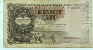 10 Latu 1937 Lettland,  IV  8,00 EUR  +  7,00 EUR shipping