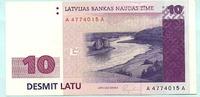 10 Latu 1992 Lettland,  Unc  49,50 EUR  +  7,00 EUR shipping