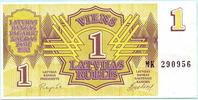 1 Rublis 1992 Lettland,  Unc  1,50 EUR  +  7,00 EUR shipping