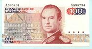 100 Francs 1980 Luxenburg,  Unc  14,50 EUR  +  7,00 EUR shipping