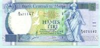 5 Liri 1967(1994) Malta,  I-  45,00 EUR  +  7,00 EUR shipping