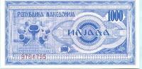 1000 Denar 1992 Mazedonien,  Unc  4,00 EUR  +  7,00 EUR shipping