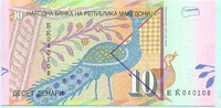 10 Denar 2001 Mazedonien,  Unc  2,00 EUR  +  7,00 EUR shipping
