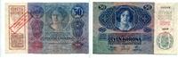 50 Kronen, 1920, Österreich, Aufdruck 4.Oktober 1920, I-,  399,00 EUR  +  7,00 EUR shipping