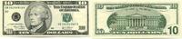 10 Dollars 2003 USA,  Unc  20,00 EUR