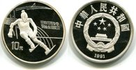 10 Yuan 1991 China, Olympische Spiele 1992, PP  27,50 EUR  +  7,00 EUR shipping