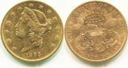 20 Dollars Gold Liberty Double Eagle 1895s USA,  ss/vz  1350,00 EUR  +  17,00 EUR shipping