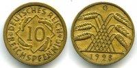 10 Reichspfennig 1928 G Weimarer Republik ~ Kursmünzen / Seltener Jahrg... 165,00 EUR  +  7,00 EUR shipping