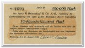 Deutschland 500.000 Mark 1923 ~ Unc ~ Hamburg / P. Beiersdorf & Co. AG ~ 65,00 EUR