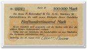 500.000 Mark 1923 Deutschland ~ Hamburg / P. Beiersdorf & Co. AG ~ ~ Unc  65,00 EUR58,50 EUR  +  7,00 EUR shipping