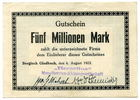 5 Millionen Mark, 1923, Deutschland, ~ Bergisch Gladbach / Berzelius Me... 75,00 EUR67,50 EUR  +  7,00 EUR shipping