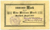 1 Million Mark 1923 Deutschland ~ Burscheid / Kölner Feinleder GmbH ~   95,00 EUR85,50 EUR  +  7,00 EUR shipping