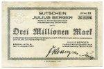 3 Millionen Mark 1923 Deutschland ~ Brühl-Köln / Julius Berger Tiefbau-... 220,00 EUR198,00 EUR  +  7,00 EUR shipping