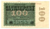 100 Millionen 1923 Deutsches Reich ~ Seltene Variante / Hakensterne, 8s... 200,00 EUR  +  7,00 EUR shipping