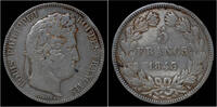 5 franc 1843 France France Louis Philippe I 5 francs 1843K VF+  32,00 EUR  +  8,00 EUR shipping